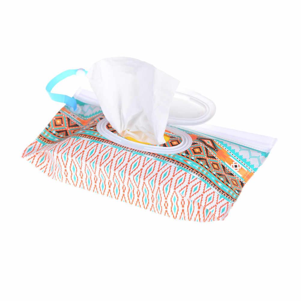 Bolsa de toallitas húmedas respetuosa con el medio ambiente, fácil de llevar, bolsa para cosméticos, bolsa de embrague y toallitas limpiadoras Estuche de transporte