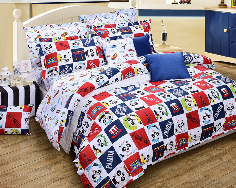 Lovely Kung Fu Panda Full Queen King 4Pcs Cartoon Bedding sets 100% Cotton Sanding Duvet cover Bed sheet set white blue redLovely Kung Fu Panda Full Queen King 4Pcs Cartoon Bedding sets 100% Cotton Sanding Duvet cover Bed sheet set white blue red