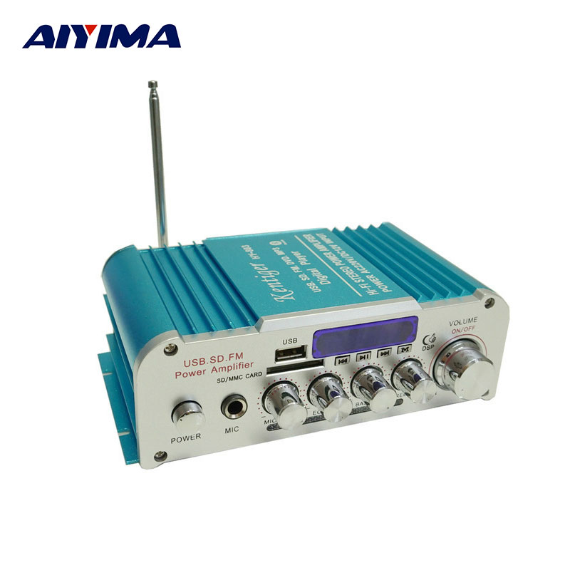AIYIMA HY-803 Bluetooth Power Amplifier Multi Function Small Power Amplifiers HIFI High Power Household Karaoke Amplifier music fax f1800 high power class a power amplifier board 200w 2 diy hifi amplifiers mono amplifier board 1 sets 2pcs