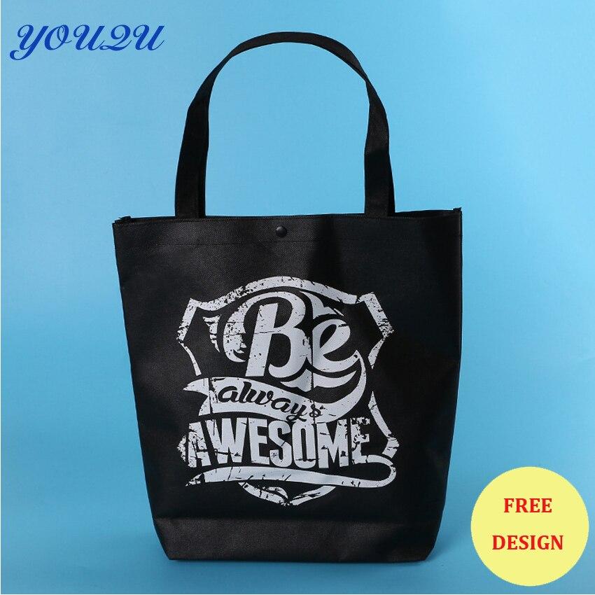 Шелкография Нетканая сумка, трафаретная печать Нетканая сумка, печать Нетканая сумка