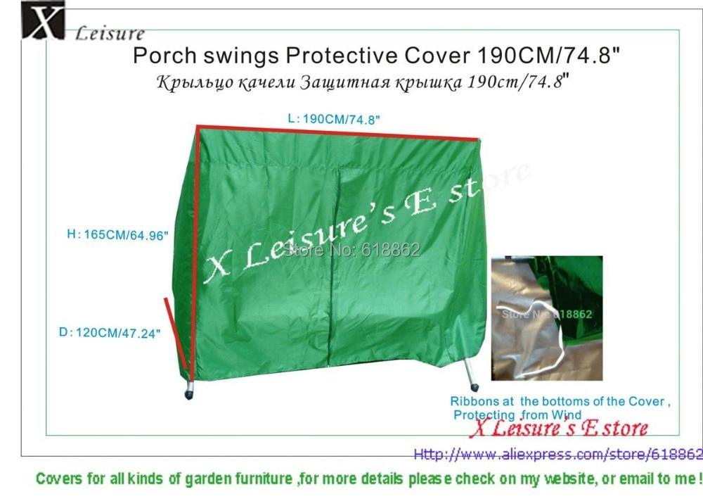 Schaukel fauteuil swing Cover, L190xD120xH165cm waterdicht, winddicht - Tuinbenodigdheden