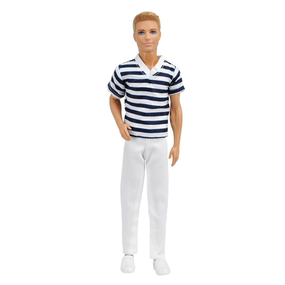 NEW Fashion White Ken Clothes Set For 30cm Barbier Doll Clothes Accessories Play House Dressing Up Costume Kids Toys Gift