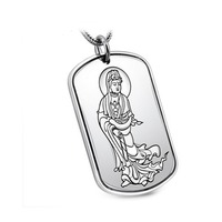 Jade Angel 925 Silver Wheat Chain with Sterling Silver Dog Tag Engraved Words Birthday Gifts,Father's Day Gifts, Christmas Gifts