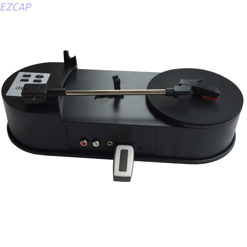 цена на EzCAP USB Vinyl turntable record player to mp3 converter, convert vinyl to mp3 portable player in SD TF Card Free shipping