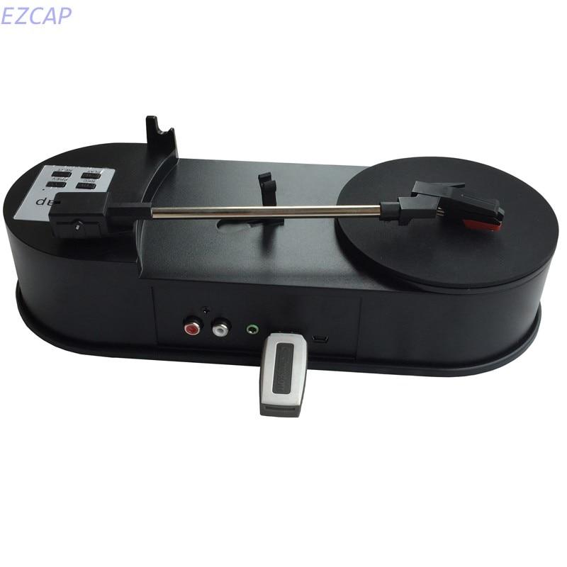 EzCAP USB Vinyle platine tourne-disque à mp3 convertisseur, convertir vinyle à mp3 portable lecteur dans SD TF Carte Livraison gratuite