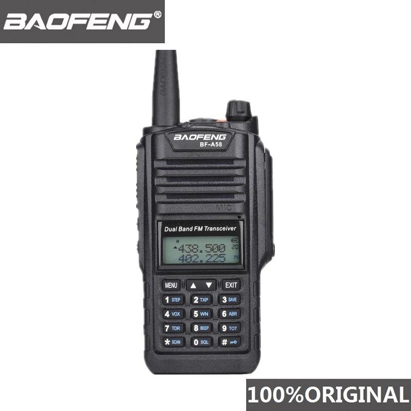 Original Baofeng BF-A58 talkie-walkie IP67 étanche Telsiz 10 km Radio bidirectionnelle Hf émetteur-récepteur de chasse Radio Baofeng Uv-9r Plus