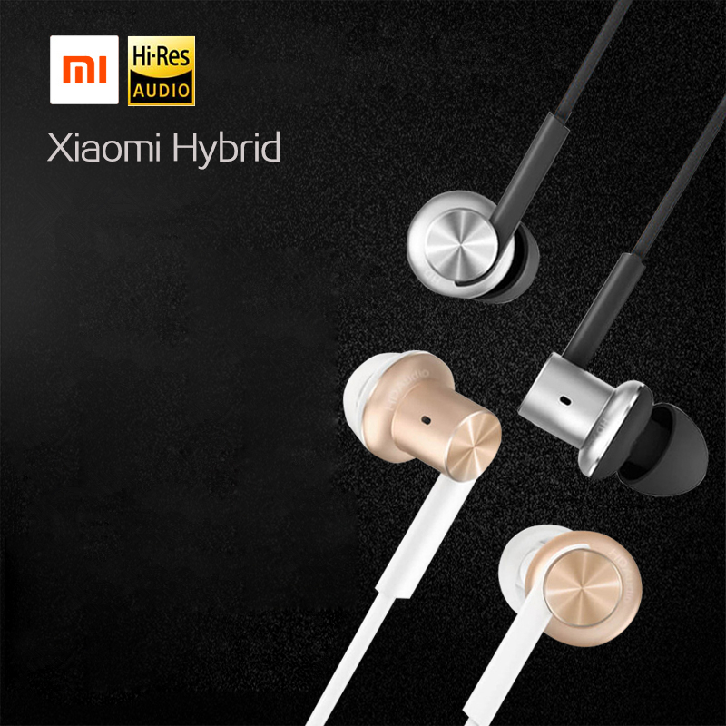 Original Xiaomi Mi Hybrid Earphone In-Ear 3.5mm Earbuds Piston Pro with Microphone Wired Control For Samsung Huawei P10 S8 ��аушники xiaomi xiaomi m2 iphone samsung mp3 xiaomi piston earphone