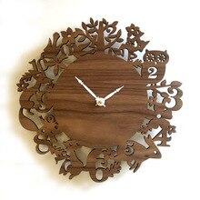 New Countryside pastoral wood forest animal bird wall clock wall decoration clock watch quartz creative clock