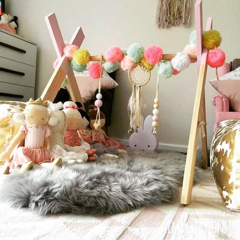 Style nordique classique en bois bébé Gym avec Gym jouets activité Gym crèche décor bébé jouet sensoriel activité bébé accessoires