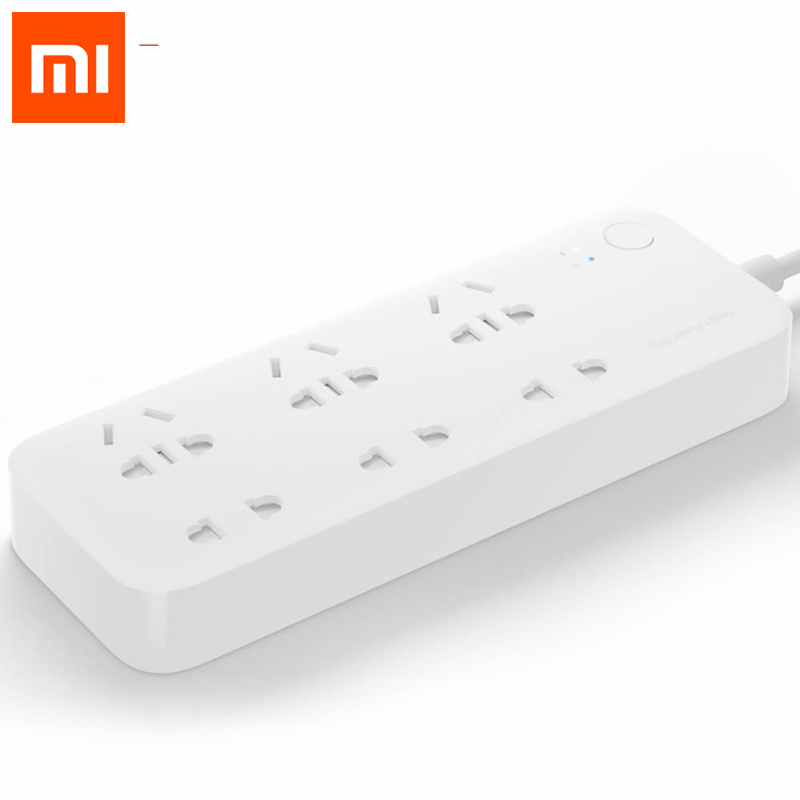 Original Xiaomi Smart Power Strip Intelligent 6 Ports WiFi Wireless Remote Power on/off with Phone APP Control+Conversion plug