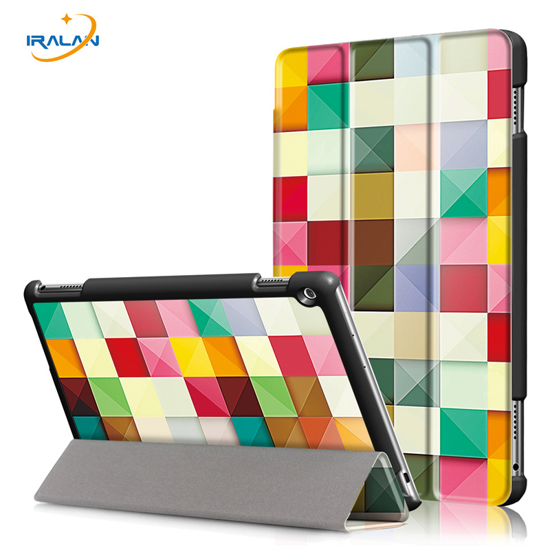 New folding Painted Leather Stand Cover for Huawei Mediapad M3 Lite 10 BAH-W09 BAH-AL00 10.1 Tablet smart Protective Case+3 in 1 for huawei mediapad m3 lite 10 case silicone crystal case cover for huawei mediapad m3 lite 10 1 bah w09 bah al00 tablets cover