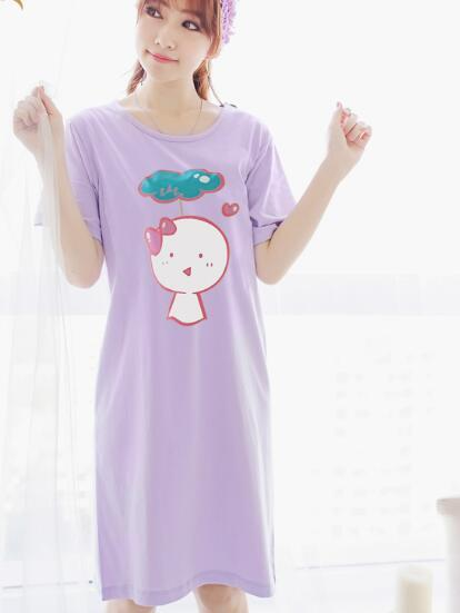 2016 summer polka dot pure cotton women maternity wear clothing for feeding pajama nursing clothes comfort pregnant nightgown