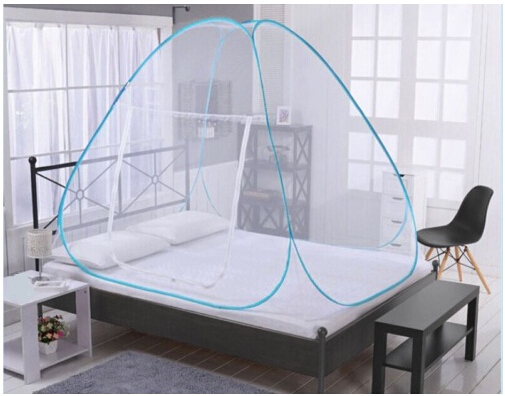 brand new 8a428 9f1fb US $15.41 30% OFF|Mosquito Net Folding Single Door Pop Up Camping Tent Bed  Canopy Mosquito Net Mongolian Bag Queen King Size Netting Bedding-in ...