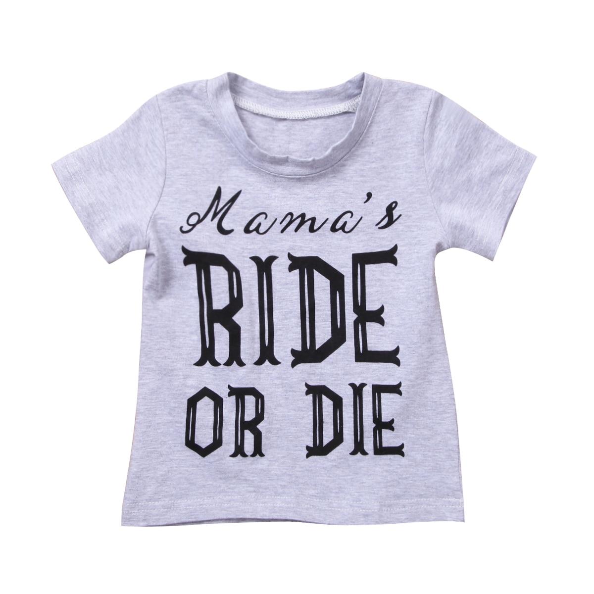 Для новорожденных мальчиков и девочек с коротким рукавом хлопковые футболки новая детская одежда с надписями футболка От 1 до 6 лет