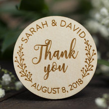 Wooden Thank You Favor Magnets Wooden Magnets Rustic Save The Date Gift Wedding Invitation(China)