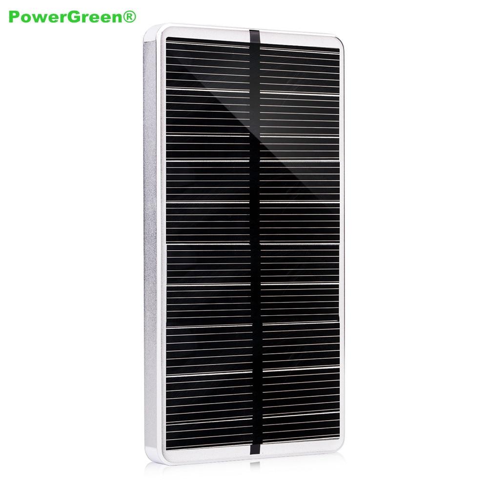 Powergreen leds diseño 10000 mah cargador solar power bank batería externa carga
