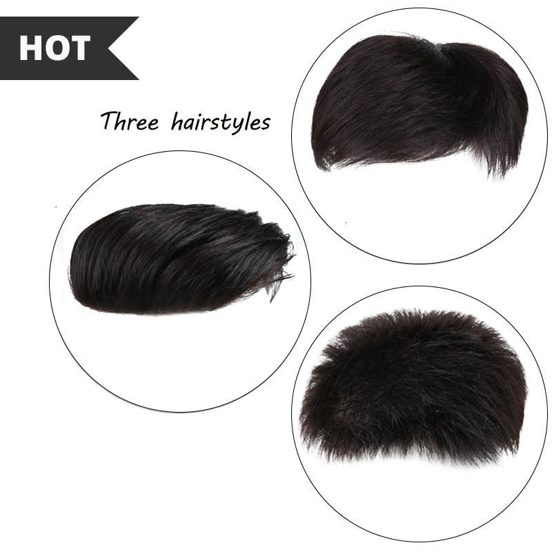 Reliable Natural Black Human Hair Full Lace Wigs Multiple Styles Toupee Human Hair For Men Top Hair Closures Lace Inner Cap With Fixed Cl Preventing Hairs From Graying And Helpful To Retain Complexion
