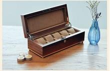 Роскошь в исходном черный орех дерево 5-сетка коробка для хранения смотреть роскошные часы поле бренда watchesboxes подарочная коробка смотреть организатор MSBH004e