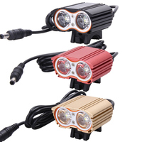 High Brightness 6000lm 2x XM L T6 White LED Waterproof MTB Front Bicycle Light Headlamp Headlight