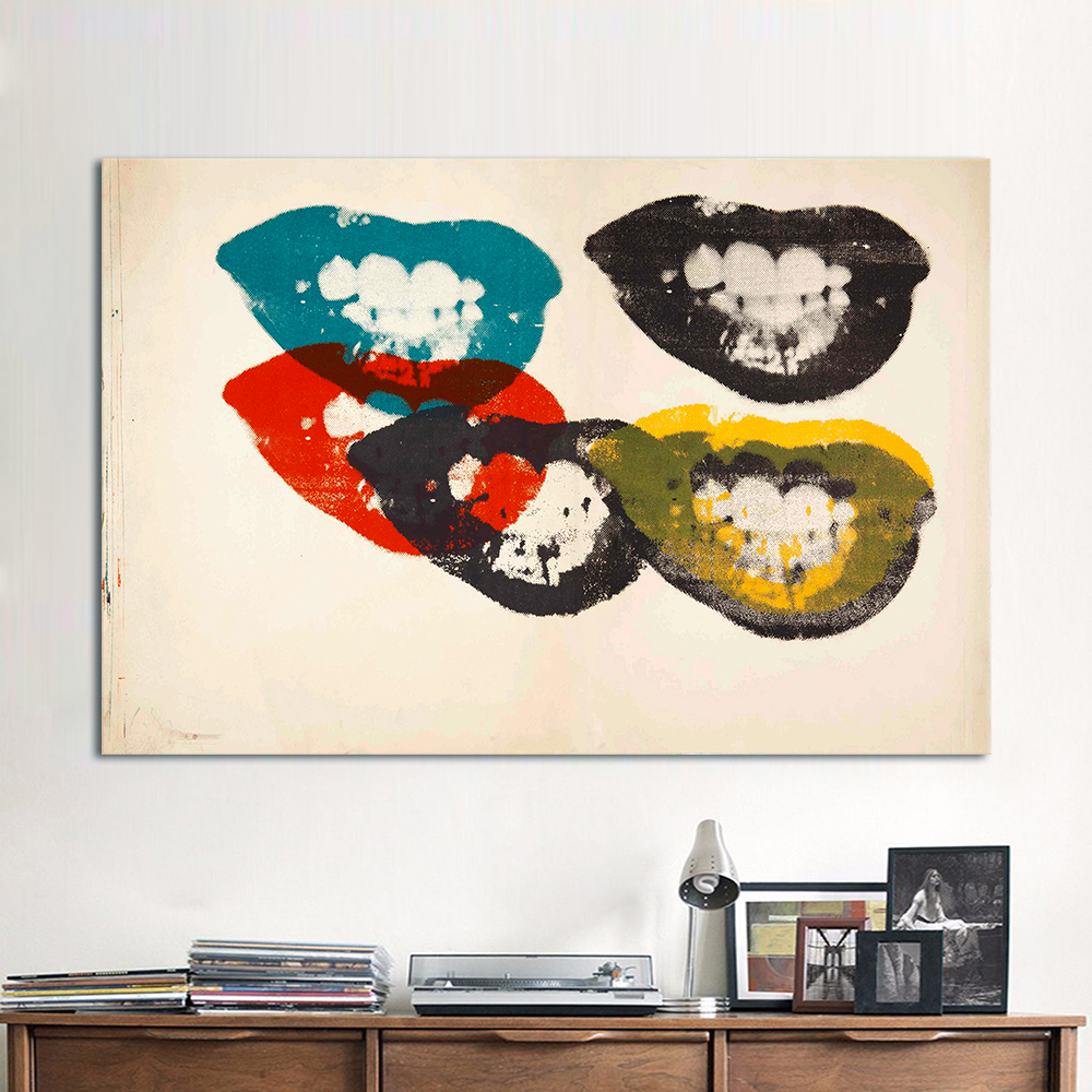 cubism pop art promotion shop for promotional cubism pop art on hdartisan pop canvas art painting the lips andy warhol wall pictures for living room home decor posters and prints