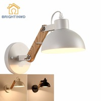 Creative White/black Simple Light Fixtures Kitchen Dining Room Bedroom Foyer Wall Lamps Indoor Decoration