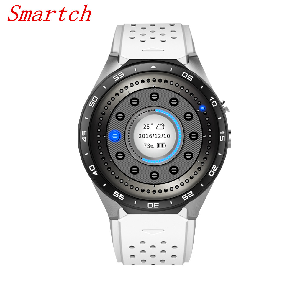 Smartch KW88 Smart Watch Android 5.1 Smartwatch kw88 MTK6580 quad core 3g Bluetooth GPS Heart Rate Monitor phone bluetooth heart rate gps smart watch kw88 mtk6580 quad core 1 39 inch resolution 400 400 3g wifi smartwatch phone