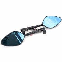 Универсальный набор ЧПУ Алюминиевый сплав Мотоцикла Зеркала Заднего Вида зеркало комплект для yamaha mt-09 tracer mt-10 tdm 900 yzf R6