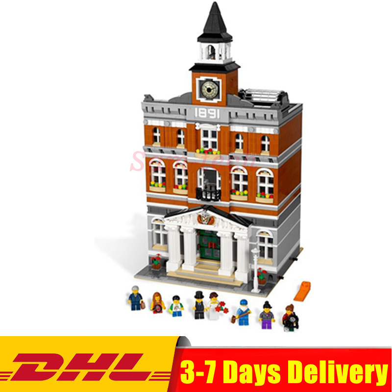 Lepin 15003 City Street The Town Hall Model Building Block Assembling Toys Kits Compatible 10224 Educational Gifts For Chldren lepin 15013 city street carousel model building kits assembling blocks toy legoing 10196 educational merry go round gifts