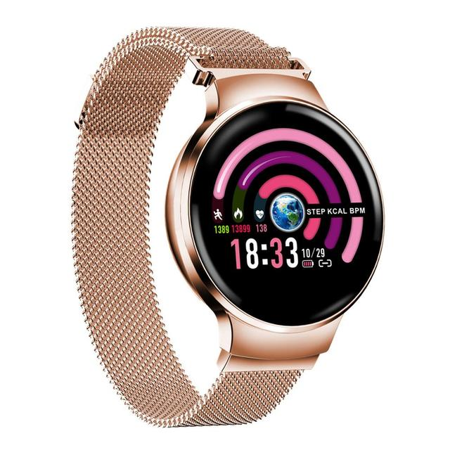 H5 Women Smart watch IP67 Waterproof Heart rate monitor Smartwatch Sports Fitness Tracker Woman ladies Girl for Android and IOS