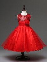 Children S Girls Clothing Knee Length Lavender Blue Red Sequin Flower Girl Dresses For Weddings Kids
