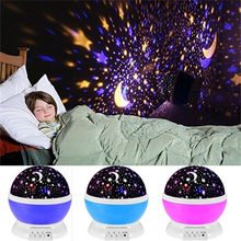 Rotating Moon Projector Starry Sky Lamp Moon Star Unicorn Light Glow In The Dark for Kids Baby Sleeping Birthday Gift Room E(China)
