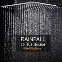 Showerhead Большой дождь над головой душевая панель на потолке 304 Нержавеющая сталь матовая поверхность/Ванная комната Душ