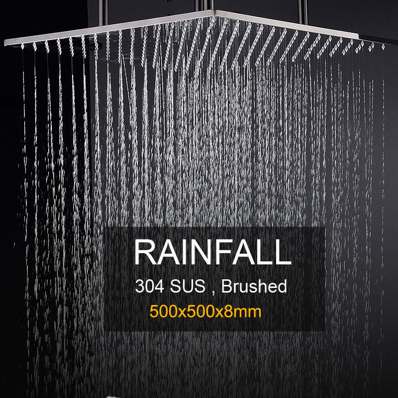 Showerhead Large Rain Over Head Shower Panel Ceiling Mounted 304 Stainless Steel Brushed Surface / Bathroom Shower