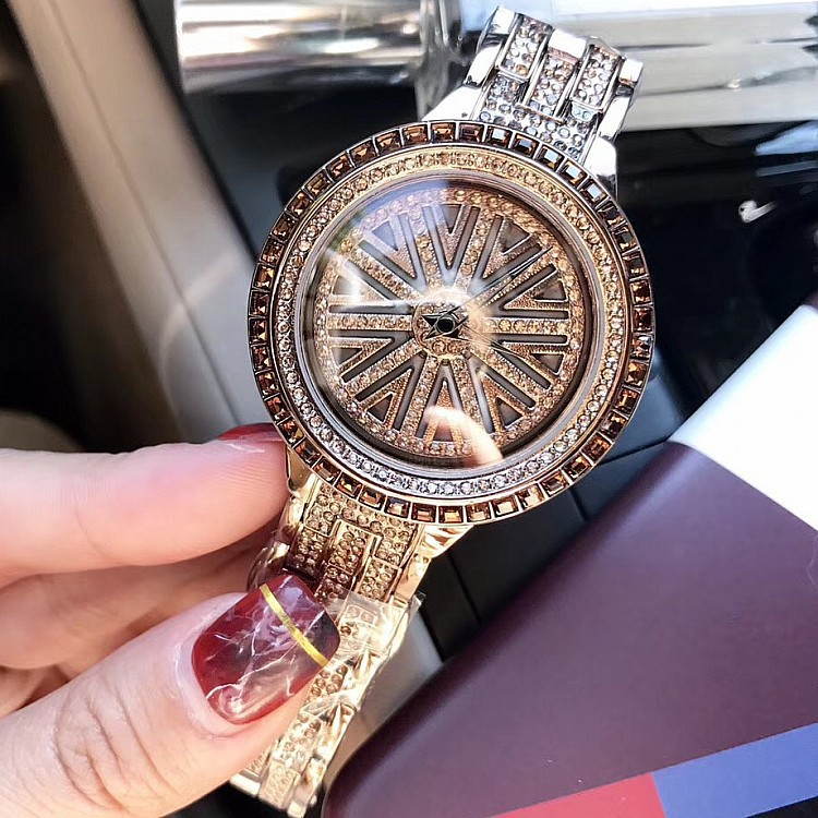 2018 Luxury Watch Women Quartz Watches Bracelet Wristwatch Ladies Rhinestone Clock For Female Relogio Feminino Stylish Saat