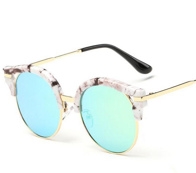N1 Brand New 2016 Summer Fashion Round Sunglasses Women Eyewear Brand Designer glasses Multi color Points Sun Glasses Shades