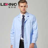 Men's Lab Coats White Coat Loose Doctor Uniforms Jackets Long sleeve Thickened Pharmacy Physician Uniforms