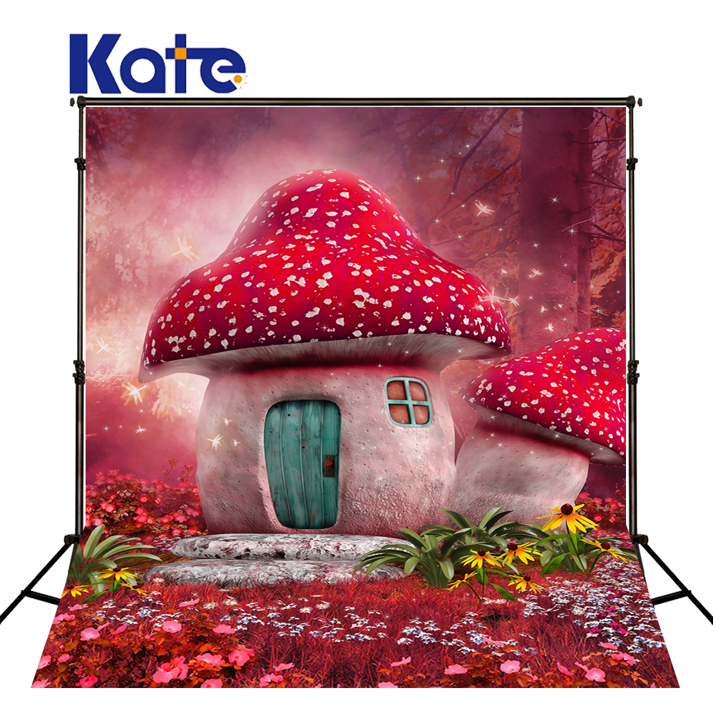 5x7Kate Children Photography Backdrops Mushrooms Photo Background Castle Photography Background Newborn Photocall kate 300x600cm photography background castle photography baby backdrops castle creek cartoon background newborn photograph