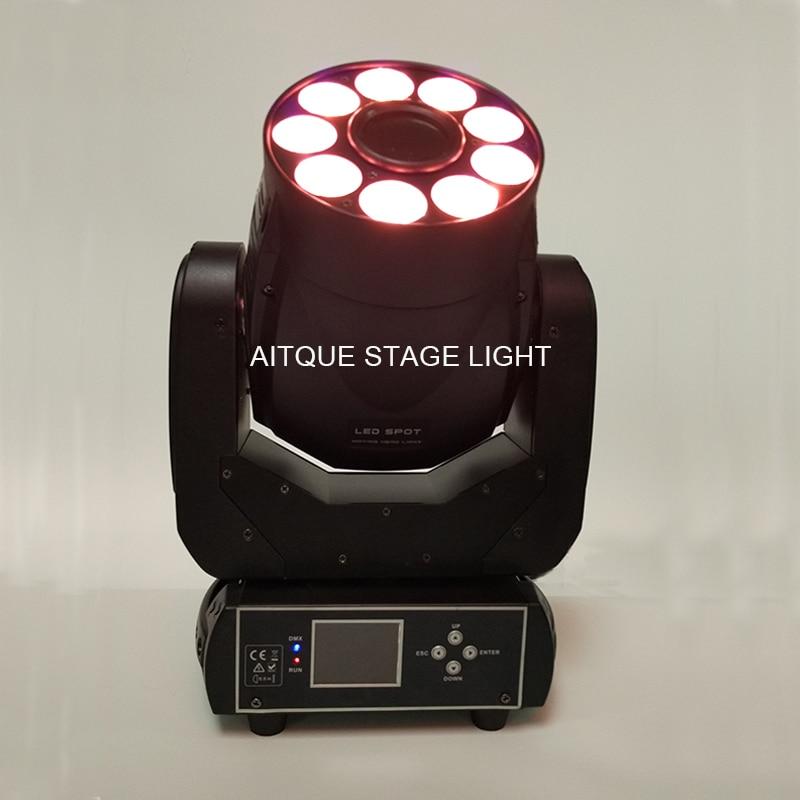 6lot Dj equipment mini head led spot moving head led 75w moving head spot wash moving head hybrid light