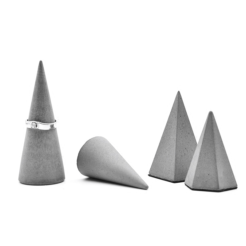 Cement Concrete Geometry Ring Bracelet Jewelry Stand To Accept The Trend Of Display Crafts Silicone Mold