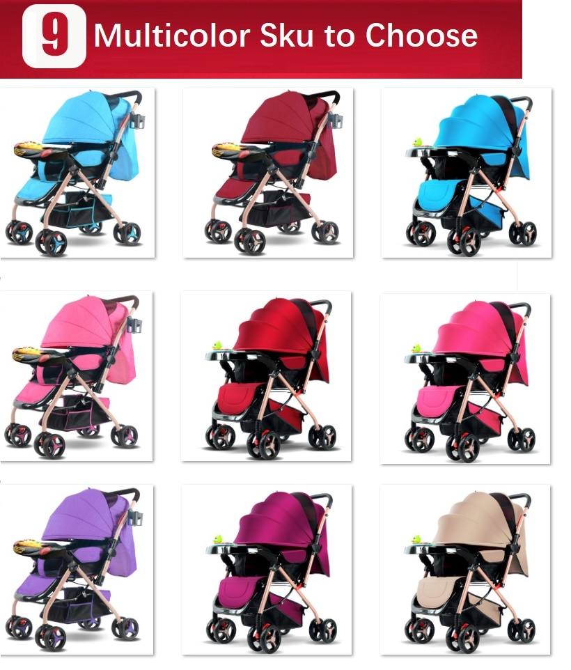 Nice Sld Baby Stroller Scientific Design Folds Easily And Conveniently 0-3 Years 7 Kg Carrying Capacity 25 Kg Steel Frame Eva Wheels Easy To Repair Four Wheels Stroller