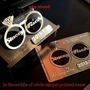 100pcslot Amazing Metal Wedding Invitation Card Personized Wedding