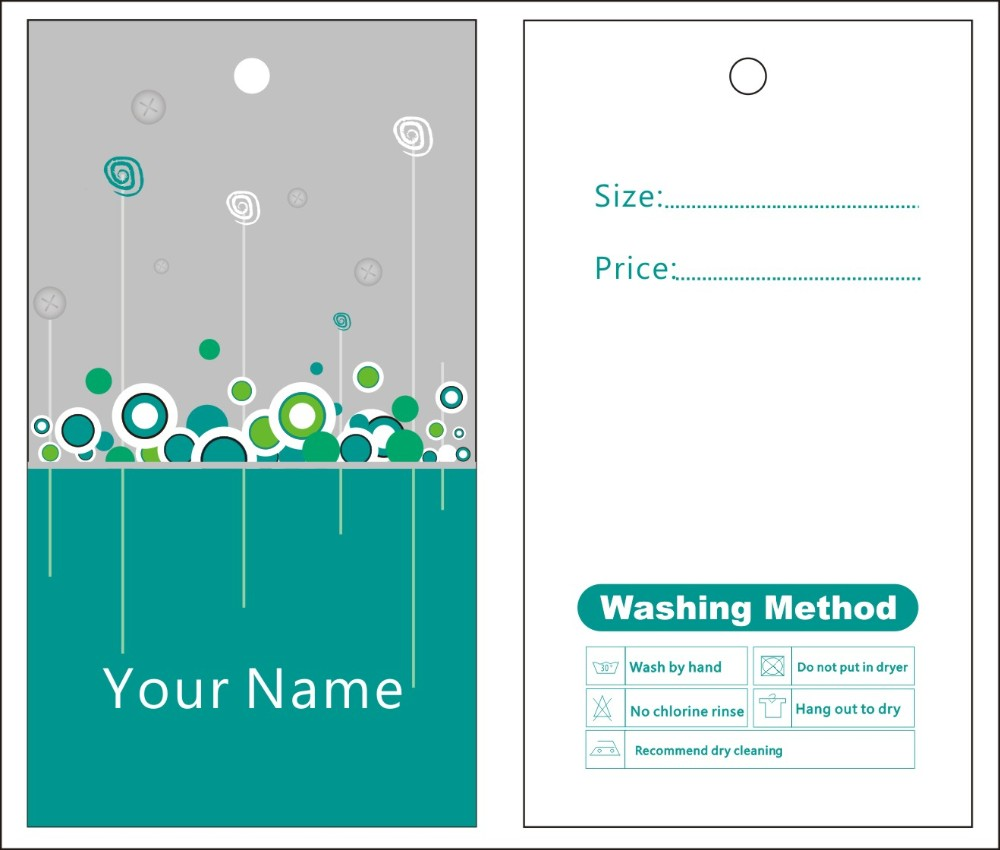 package label template
