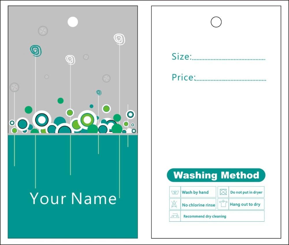 Custom Print Hang Tags Price Label General Template 008