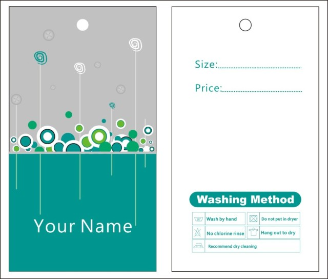 Custom Print Hang Tags Price Label General Template