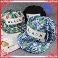 Бесплатная Доставка цветок snapback Шапки Самых Популярных Embroideried ЧЕРНЫЕ Буквы Sun Cap для мужчин и женщин Моды Хип-хоп Кепка