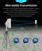 2pcs 3km 300Mbps Comfast CF E113A High Power Outdoor Wifi Repeater 5GHz Wireless Wifi Router AP Extender Bridge Nano station AP