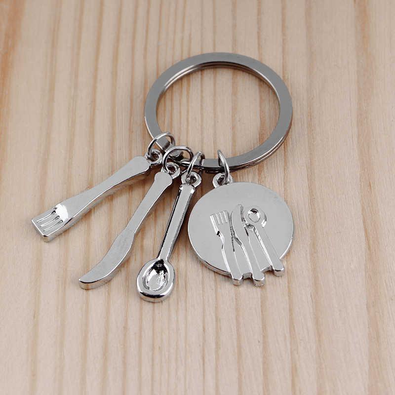 هدية للأب/الأم مسطرة مفتاح ربط المطرقة أداة مطبخ مفاتيح سحرية سلسلة مفاتيح حلقية يمكن لأبي إصلاح أي شيء هدية عيد الأم