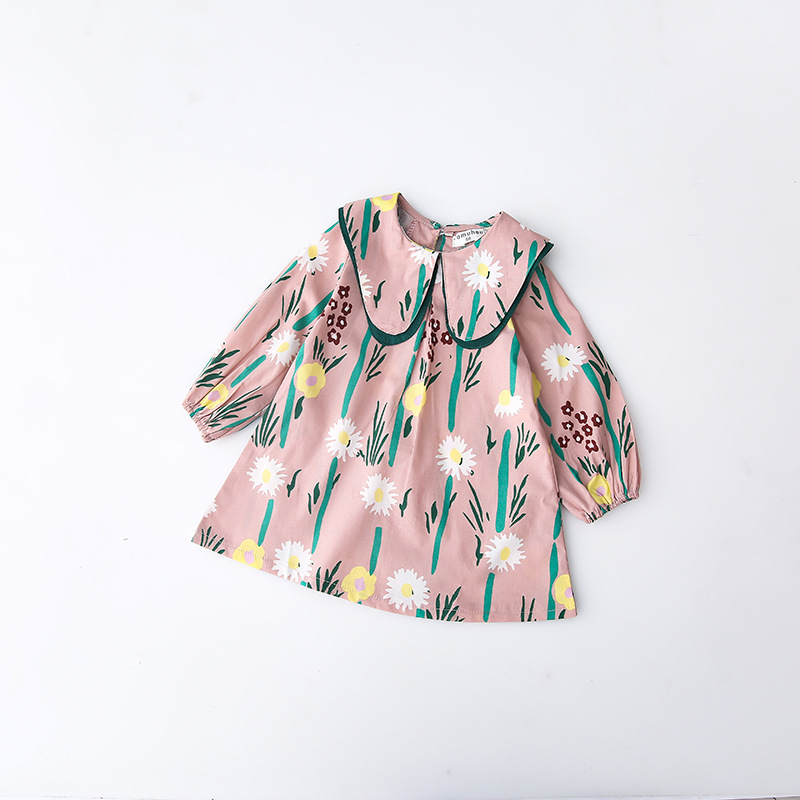 Baby Girls Dress New Fashion Cotton Girl Flower Dresses Dress 2018 Girl Dress Princess Party Clothing Kids Clothes Drop Shipping novatx brand children clothes sleeveless cotton clothing girls party dress baby girl princess dresses 2017 new arrival
