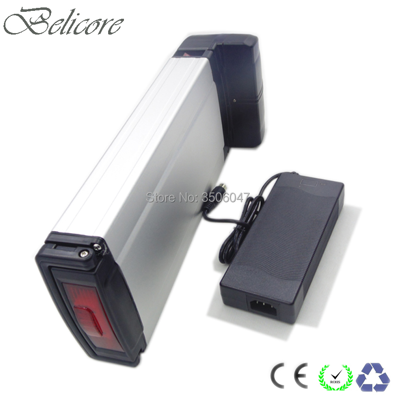 EU US no taxes 250w high quality 36v 10ah rear rack battery pack with professional 2A charger