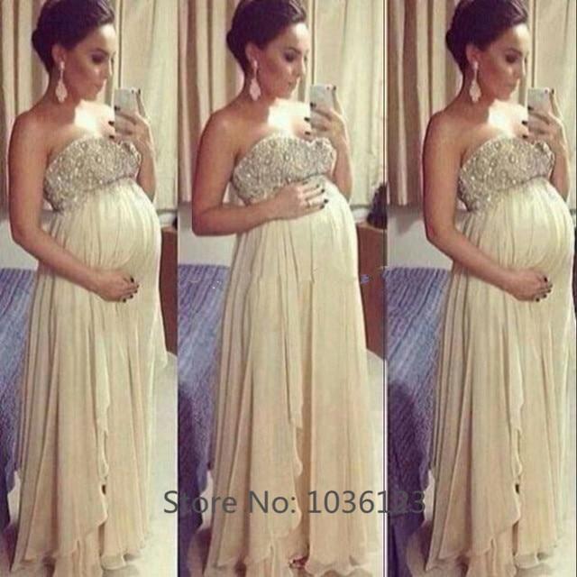 b0fd35bd7 Vestidos de fiesta Sexy mujer embarazada Vestidos para ocasiones especiales  partido vestido de noche largo elegante